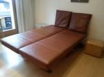 Design Leder Sofa mit Bettfunktion
